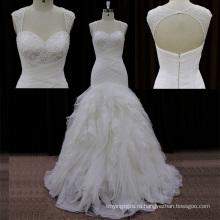 Sweehteart бисероплетение органзы свадебные платья Lowcut в спине