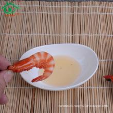 wholesale white porcelain sushi sauce dish,serving dish