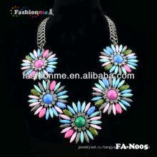 Горячие продажи коренастый стразами ожерелье заявление ожерелье