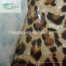 100% algodón impreso tela revestida del PVC para Animal decorativo del patrón paño