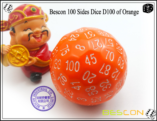 Bescon 100 Sides Dice D100 of Orange-1