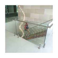 Stainless steel column railing glass staircase handrail