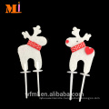 Direct Manufacturer Deer Shape Non-woven Christmas Cake Decorations Topper For Sale