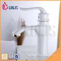 China sanitary ware single hole polished white wash basin faucets