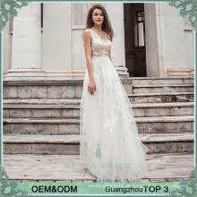Top quanlity see-through Strand Hochzeit lässig Kleid lange Alibaba Brautkleider