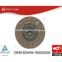 Original Yuchai engine YC6108 clutch Disc B3409-1600200A for Chinese truck