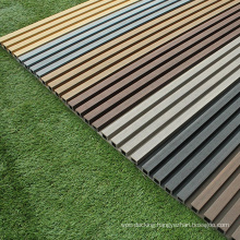 Hall Louver Facade Decoration Cladding Waterproof UV Resistance Quality WPC Outdoor Wood Plastic Composite Exterior Wall Board