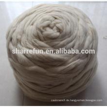 Natürliche weiße chinesische Schaf-Wolle-Faser-Oberseiten