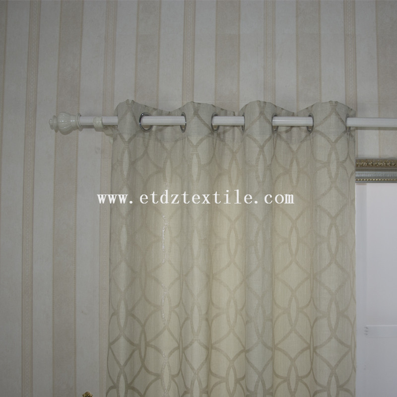 European Prefer Linen Like Jacquard Window Curtain6005-55