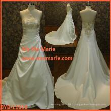 Belle robe de mariée bouffée princesse robe de mariée robe de mariée robe de mariée en lin blanc BYB-L1018