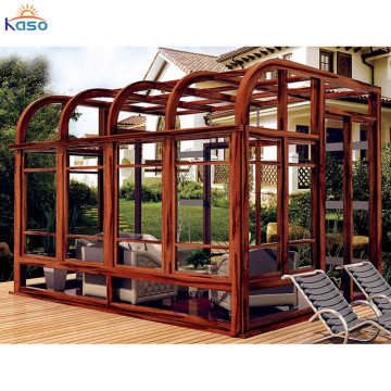 Billig Kits Plastic Aluminium Glass Extension Sunroom