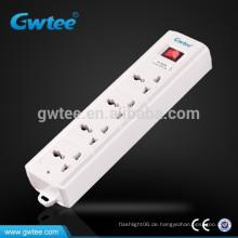 4-polige Steckdose universelle elektrische Verlängerung Sicherung Steckdosenleiste