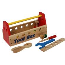 Juguete de madera de la caja de herramientas