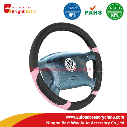 Pink steering wheel cover
