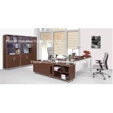 Mobilier en bureau de bureau en bois de mélamine en bois (HF-B201)