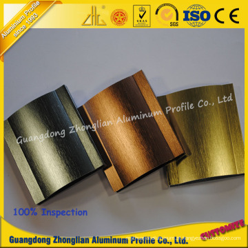 Perfil de alumínio escovado personalizado da extrusão dos fabricantes de alumínio de alta qualidade