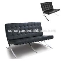 Fashion design replica barcelona chair in cowhide