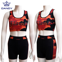 Tenues De Pratique De Cheerleading De Flamme