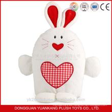 Modifique el juguete suave del conejo blanco realista del vibrador