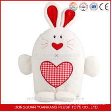 Personalizar vibrador realista coelho branco brinquedo macio