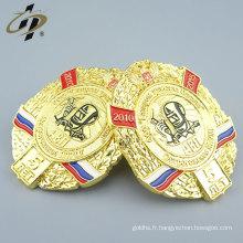 Insigne de broche en métal fait sur mesure de la Russie avec un fermoir papillon