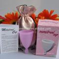 Бесплатный образец менструальная чаша медицинского силикона мягкого силикона менструальный период чашка