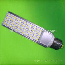 11w smd5050 gx24q LED PL avec boîtier de conducteur isolé