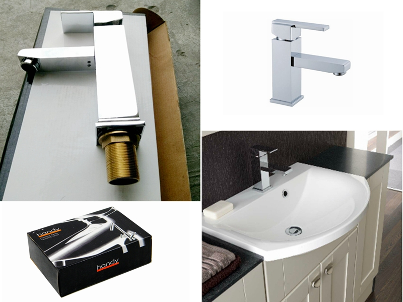 Square type wash basin mixer