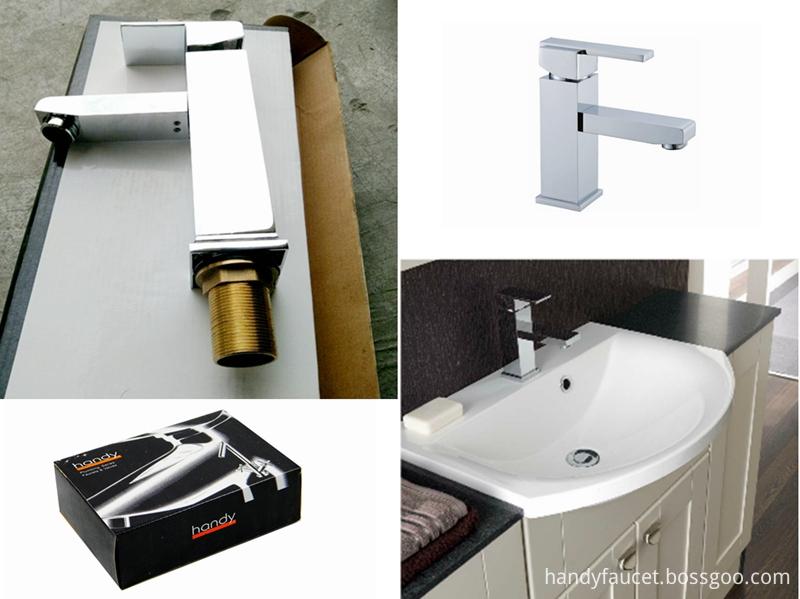 Square type wash basin mixer tap