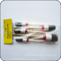 5 PCS Beige Bristle mango de madera Round Paint Brush Set