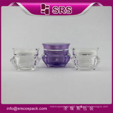 China Wholesale Cosmetic Acrylic Containers And Plastic Sample CreamJars