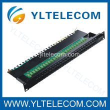 CAT.3 voz Patch Panel 50port con línea de tierra