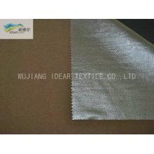 Prata poliéster tafetá tecido Blackout para cortina