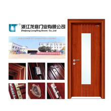 Porta de entrada de madeira de vidro interior da porta (LTS-204)