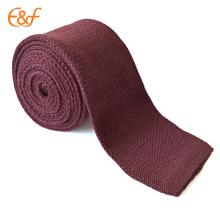 Corbata tejida flaca lisa del lazo del punto del lazo sólido de los hombres