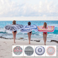 Custom Softtextile ColorfTowelul  Round Beach Towel
