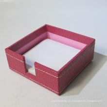 Cuero de calidad Memo Pad Holder Box