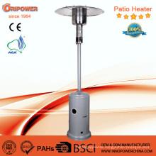 Standing Floor Propane Outdoor Gas Patio Heater in Silver Color