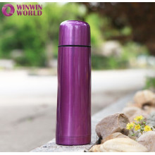Promotion Colored Double Wall Bullet-shaped Thermos Bottle With Cup