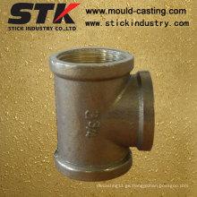 La gravedad de la fundición cruzada piezas de latón para la válvula de montaje de tubería