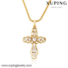 32707 Xuping trendy charm Christmas Gifts bañado en oro Cruz colgante