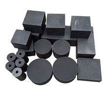 High purity round square carbon casting cooling graphite cathode block