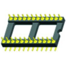 Adaptador de zócalos IC de paso de 2,54 mm. Separación SMT 15,24 mm.