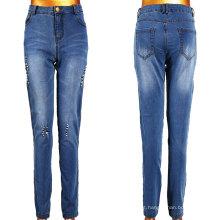 Mulheres Broken Tear Lavar Jeans