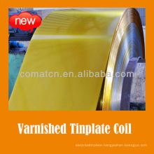 golden varnish and white coated tinplate coil for paint can lid usage