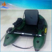 Bateau gonflable vert militaire pour une personne pour la pêche