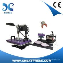 Casquette numérique de tasse de clapet Machine de presse de chaleur 6 en 1 Combo