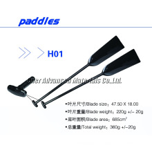 Extensión curvada del hombro de 120 cuchillas Barco de dragón de fibra de carbono