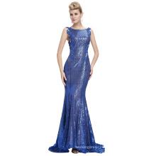 Starzz Sleeveless Blue Backless Ball Gown Sequins Formal Evening Dress ST000072-3