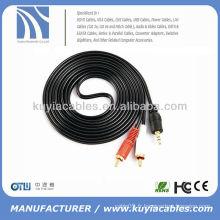 Câble adaptateur audio stéréo auxiliaire 3 mm 3,5 mm à 2 RCA pour iPod iPhone Cordon 4 haut-parleurs 4